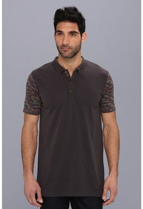 Zanerobe Camo Blockade Polo Shirt - Shop for women's Shirt - Washed Black Shirt