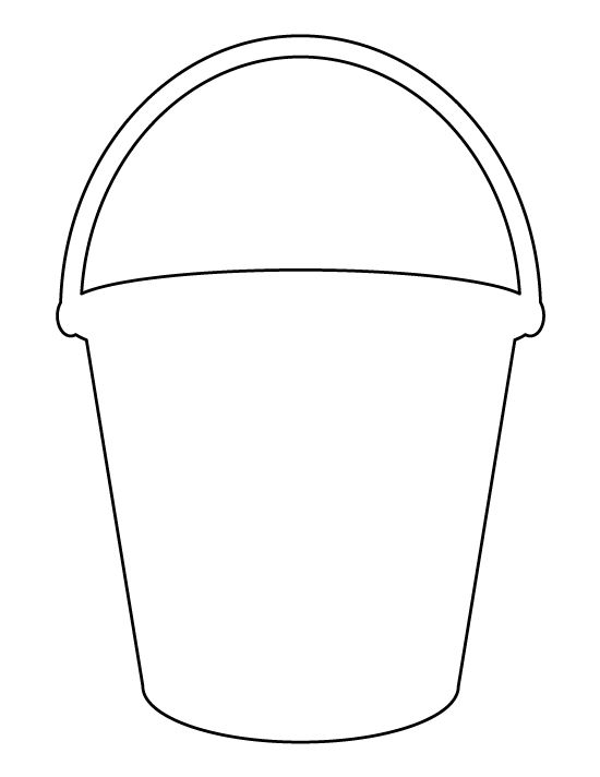 Bucket pattern. Use the printable outline for crafts