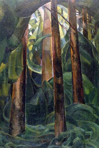 Wood Interior  by Emily Carr, 1929-1930  oil on canvas