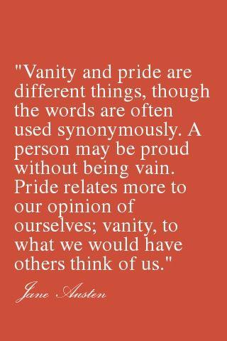 """Jane Austen disentangles """"vanity"""" and """"pride"""""""