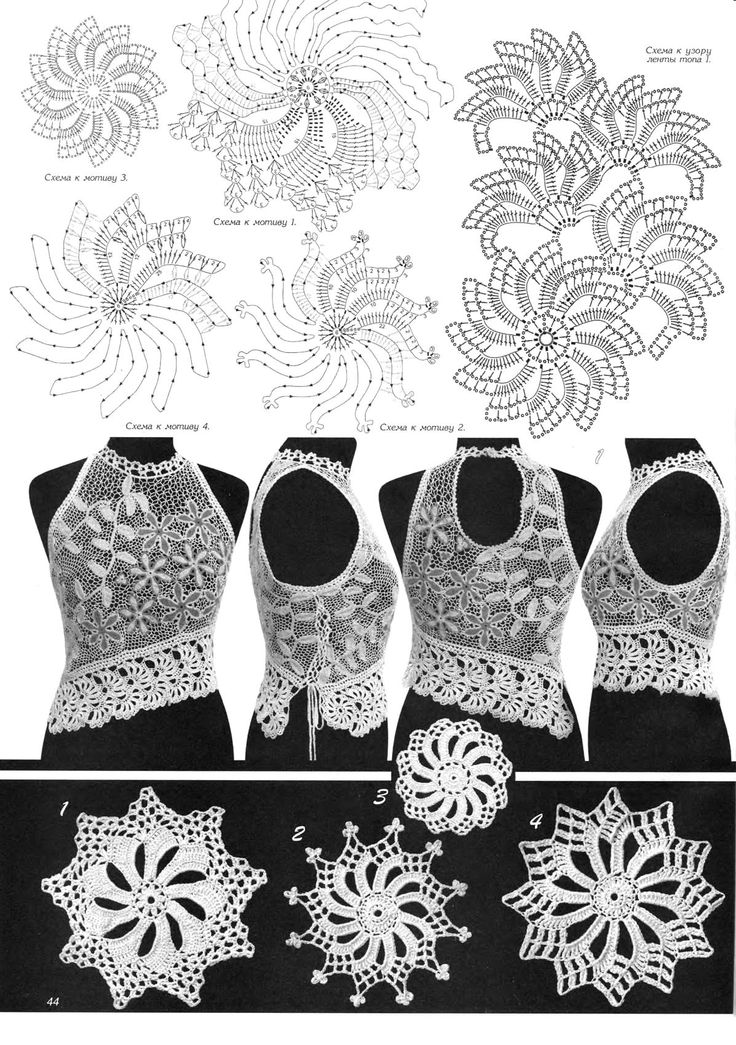 .irish crochet motifs