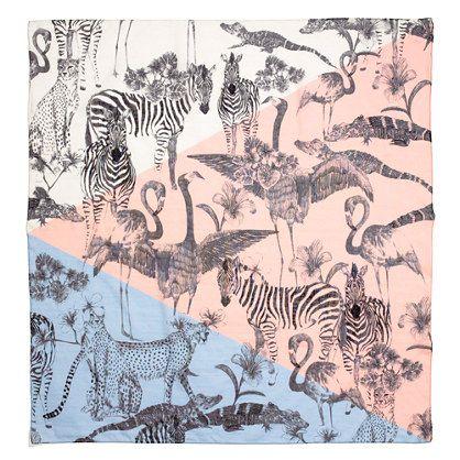 Madewell Safari Sketch Scarf - LOVE this print