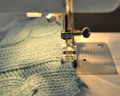 great tutorial on how to cut and reuse knit sweaters
