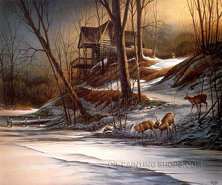 "AmazingScene Cheap Paintings Reproduction Landscape Painting Ideas Deer Thomas, Size: 36"" x 24"", $104. Url: http://www.oilpaintingshops.com/amazingscene-cheap-paintings-reproduction-landscape-painting-ideas-deer-thomas-2080.html"