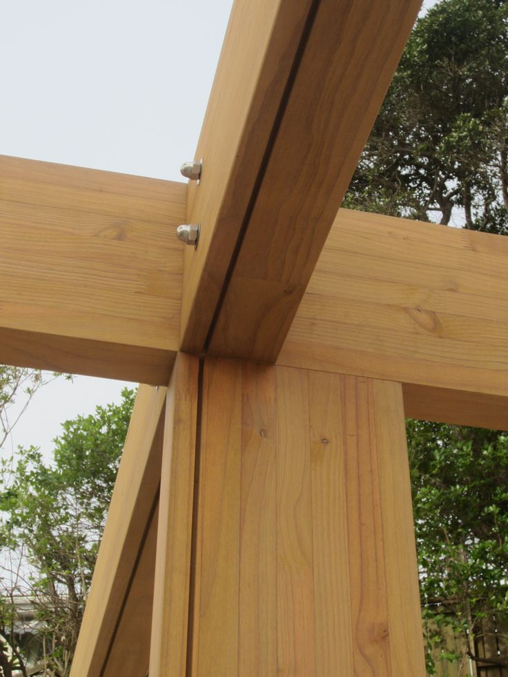 An intersection of glulam beams interesting for Architectural beams