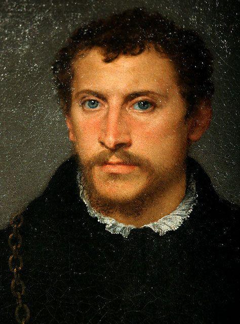 Тициан - Портрет неизвестного с серыми глазами