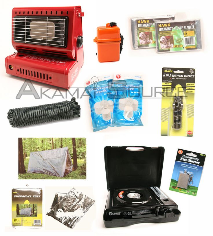 Details about Survival Kit Emergency Camping Gear Butane Stove Heater Tent Doomsday Prep Tools