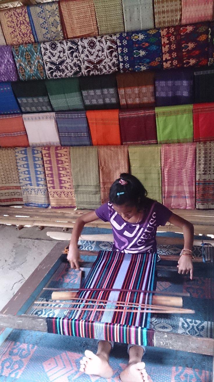 Weaving time. Sade Village, Lombok, Indonesia