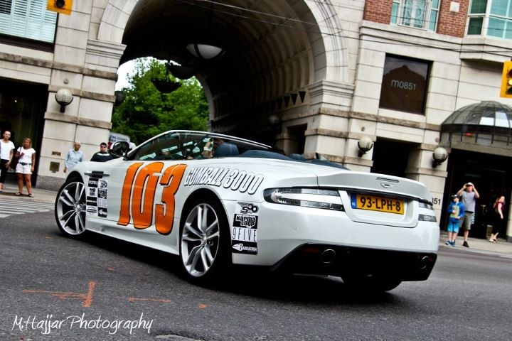 Aston Martin at the Gumball 3000 in Toronto