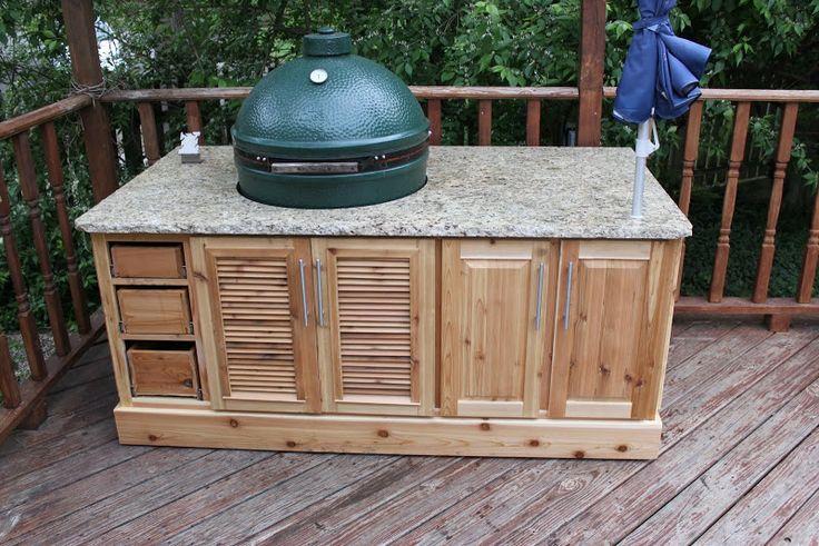 Big Green Egg cedar table! #MyHTTender
