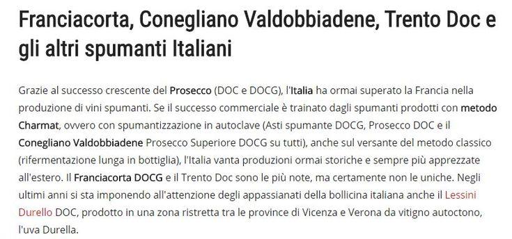 Franciacorta o Valdobbiadene o Trento Doc?