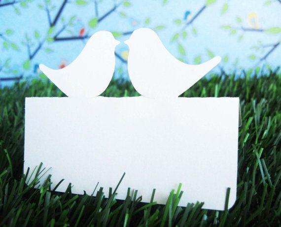 Love bird place cards, set of 50 #wedding #lovebird #placecards