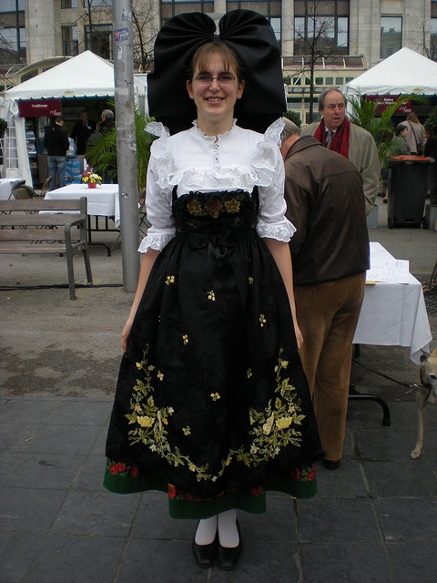 Girl Dressed in Traditional Alsacian Costume - France