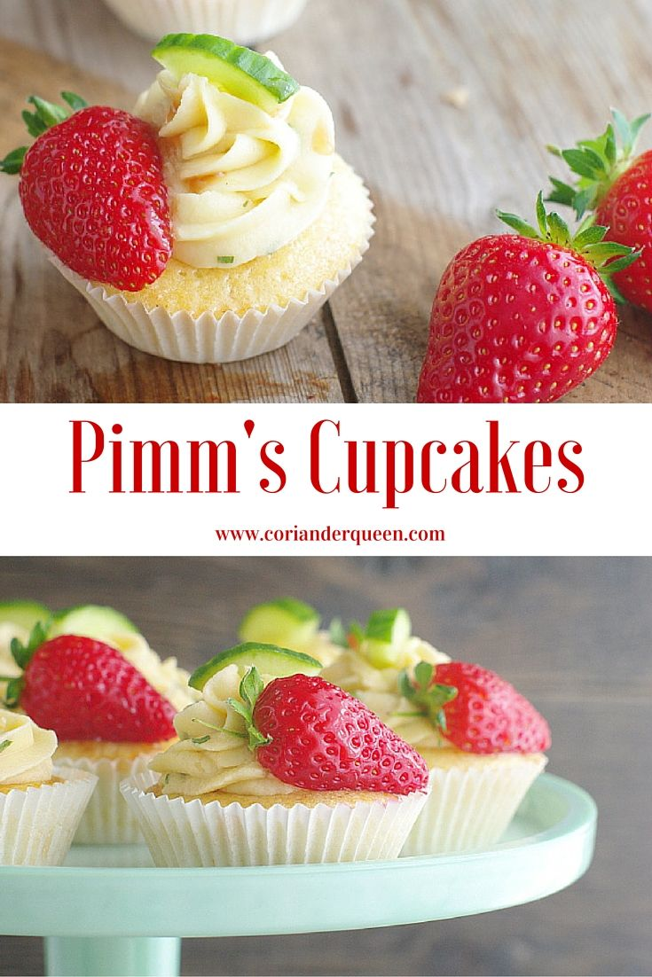 Gorgeous little Pimm's Cupcakes, perfect for summer picnics and parties!
