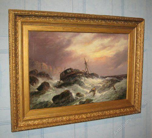 Antiques Atlas - Victorian Marine Oil By Millson Hunt