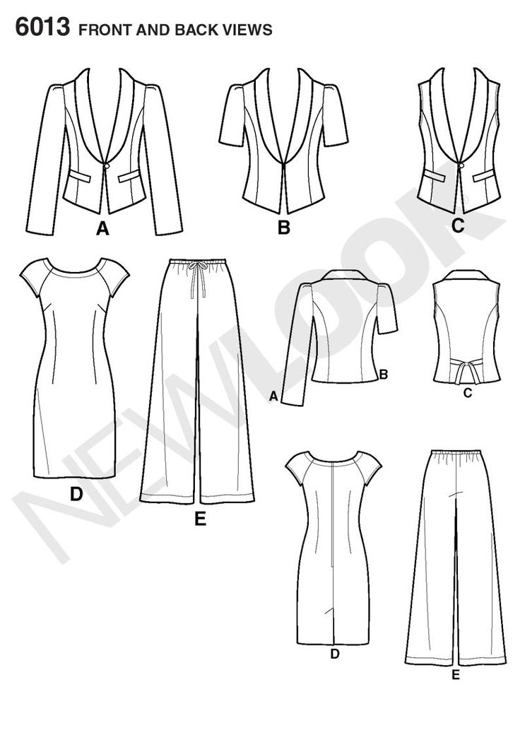 Womens jacket or vest, dress Sewing Pattern 6013 New Look: