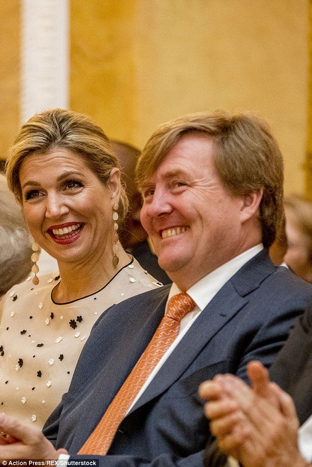 The royal couple were presenting awards for Dutch social initiatives who help connect peop...
