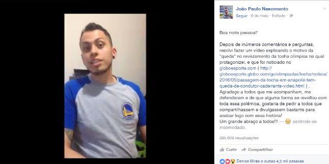 Falso cadeirante no revezamento da tocha? Atletas comentam episódio que viralizou nas redes sociais