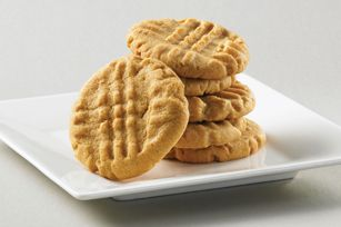 Better-for-You Peanut Butter Cookies #recipe - 3-ingredient, awesome peanut cookies! If you've tried our Super-Easy Peanut Butter Cookies, then you know about our 3-ingredient cookie dough. We've made our favourite cookie recipe better for you using KRAFT Light Smooth Peanut Butter.