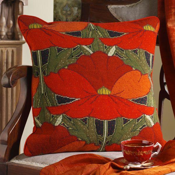 Poppies - New needlepoint canvas from Ehrman Tapestry designer Raymond Honeyman