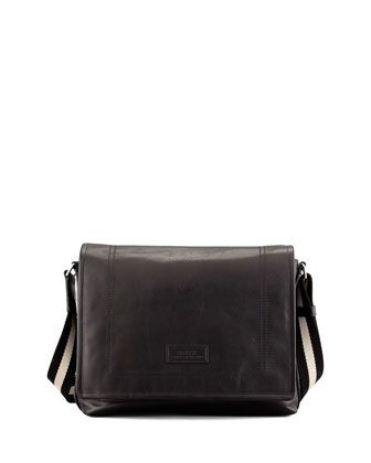 Tepolt Men\'s Messenger Bag, Black by Bally at Neiman Marcus.