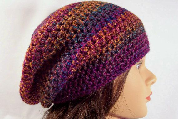 Check out this item in my Etsy shop https://www.etsy.com/ca/listing/82820017/womens-crocheted-slouch-hat-slouchie