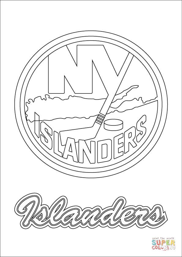 New York Islanders Logo Super Coloring Flower Coloring Pages Coloring Pages New York Yankees