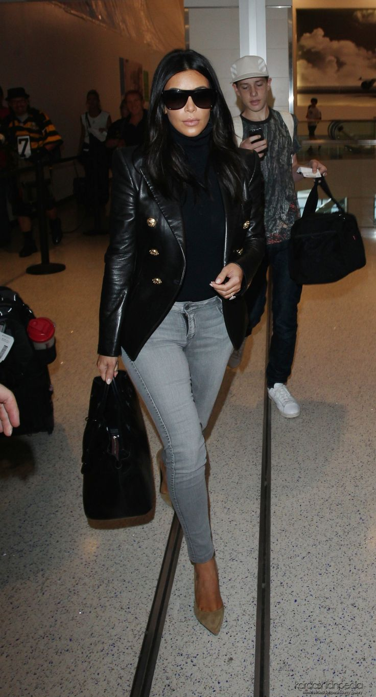 Foolproof Steps to Dressing for the Airport like Kim Kardashian Kanye departing on a flight at Los Angeles International Airport in Los Angeles, CA - 26/10/2014