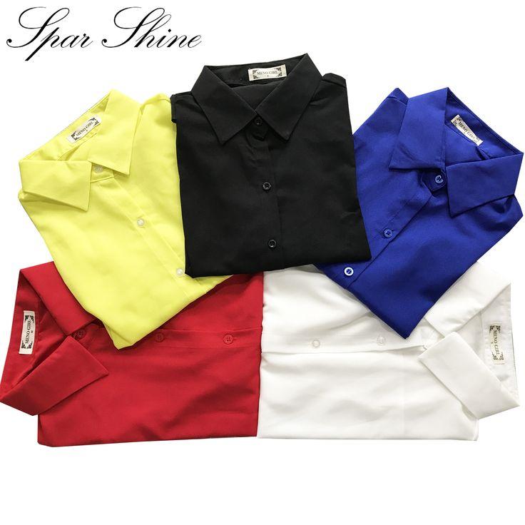 2016 Women Shirt Chiffon shirts Tops Elegant  Office Blouse 5 Colors office lady Wear tops  Plus Size XXL #shoes, #jewelry, #women, #men, #hats, #watches, #belts