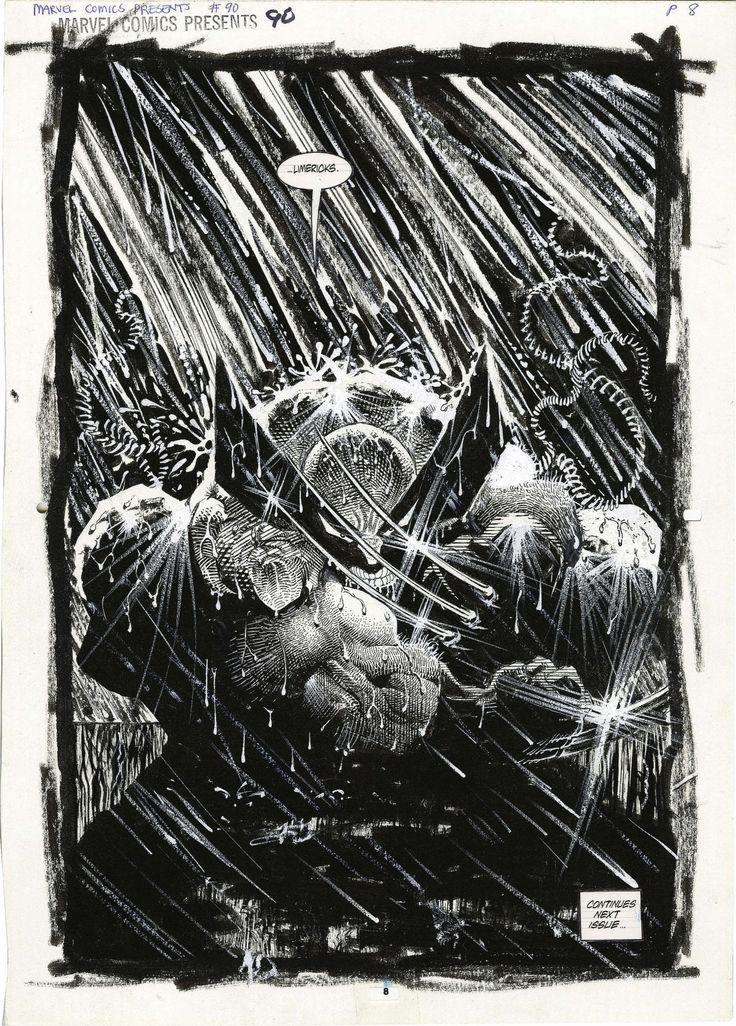 Original Wolverine splash page by Sam Kieth from Marvel Comics Presents #90, 1991.