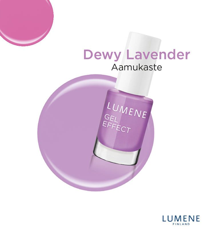 New Lumene Gel Effect Nail Polish shade 18 Dewy Lavender #Lumene #nailpolish