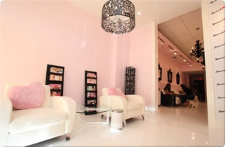 salons ideas awesome nails soft pink design showroom spa interiors