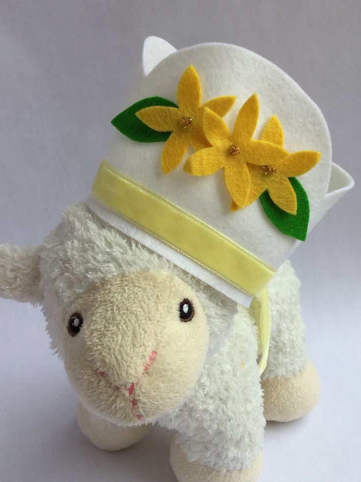 Felt crown with yellow flowers. Lola and Mae on etsy
