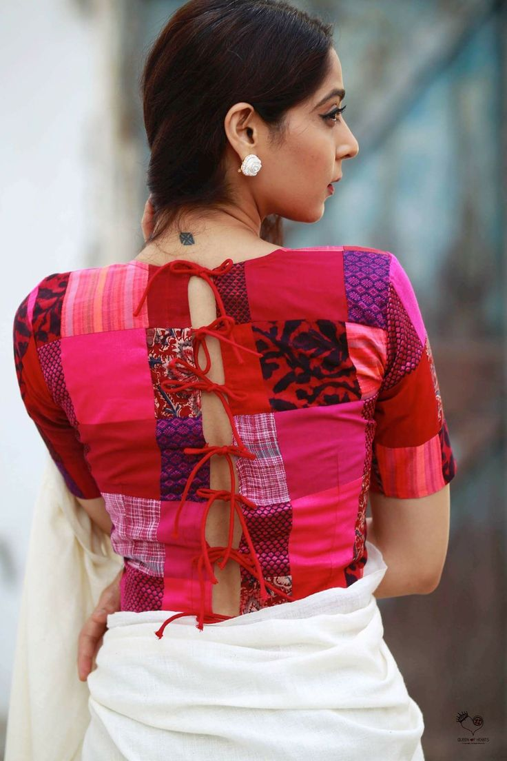 Great idea for white saree