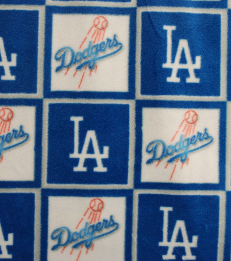 La Dodgers Mlb Block Fleece Fabricla Dodgers Mlb Block