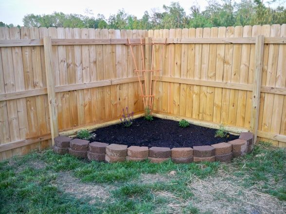 Raised Corner Vege Garden Against Fence : Our Flower Bed, Raised flower bed in the back yard.., Yards Design