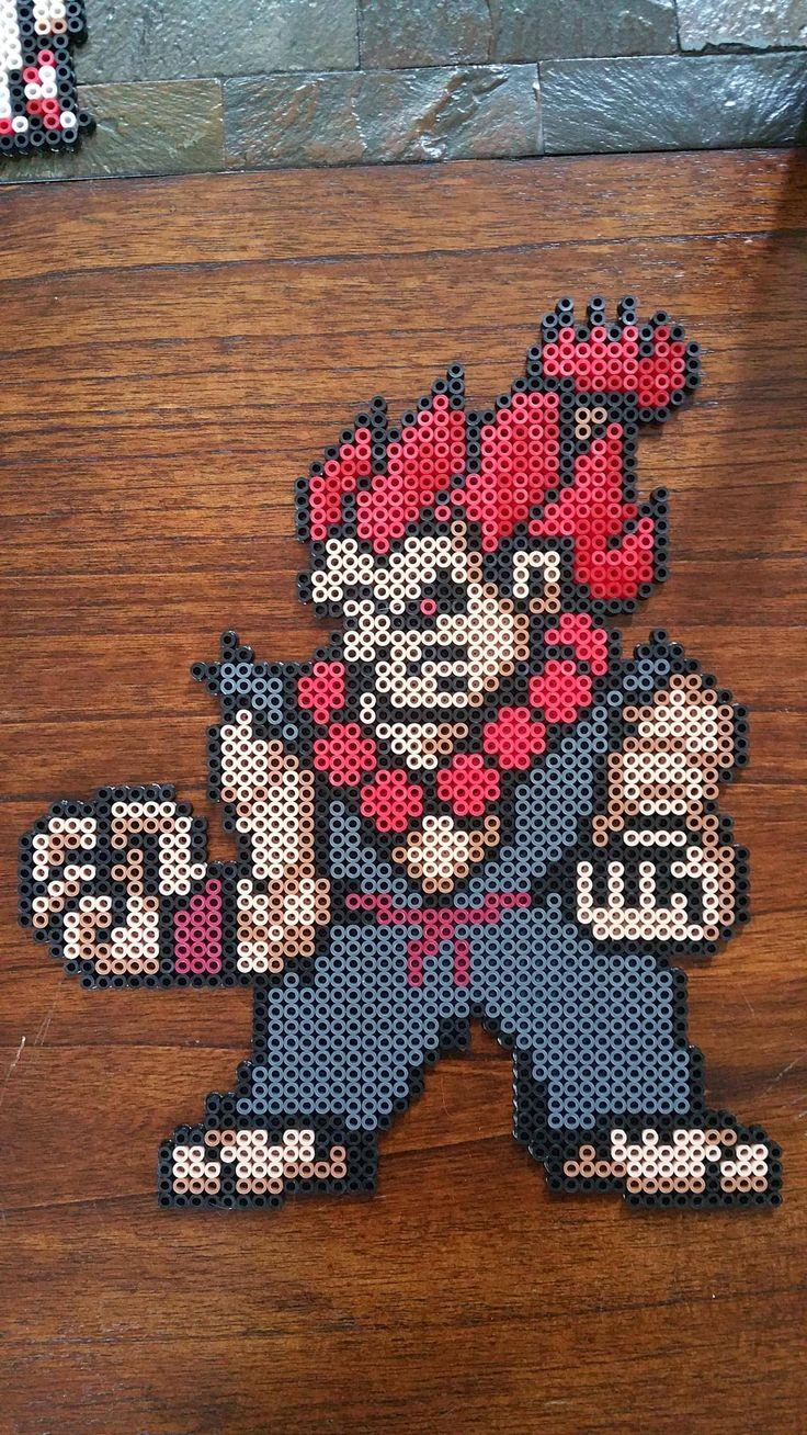 Akuma - Street Fighter perler beads by Velvet_j