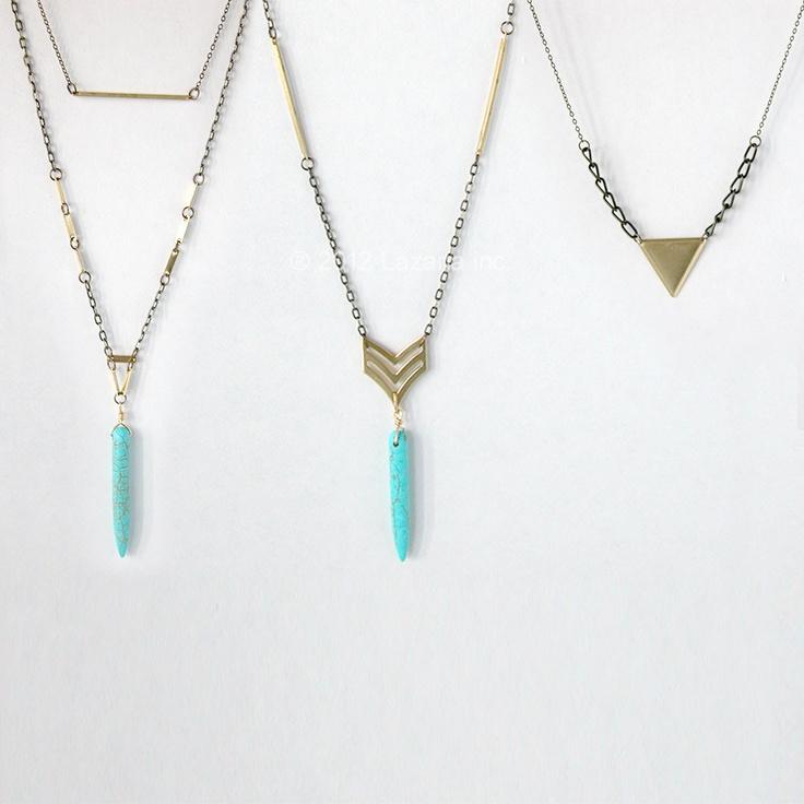 Foyer Minimalist Jewelry : Minimal necklace gold bar geometric
