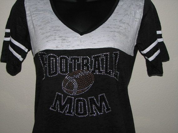 Hey, I found this really awesome Etsy listing at https://www.etsy.com/listing/158433968/football-mom-jersey-shirt-with-football