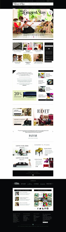 The Longest Stay E-commerce interiors website design #interiors #websitedesign www.thelongeststay.com