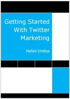 Getting Started With Twitter Marketing, an ebook by Helen Lindop at Smashwords
