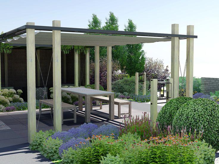 17 beste idee n over pergola schaduw op pinterest pergola 39 s pergola dak en pergola patio - Filet schaduw pergola ...