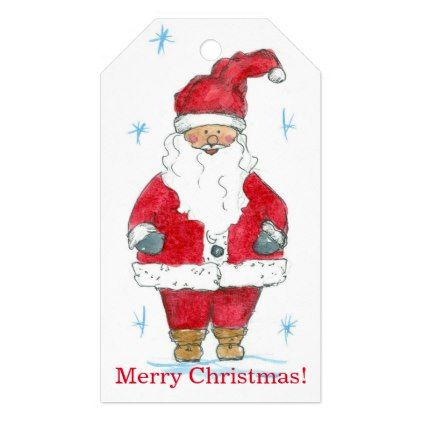 Merry Christmas Santa Claus Gift Tags - drawing sketch design graphic draw personalize