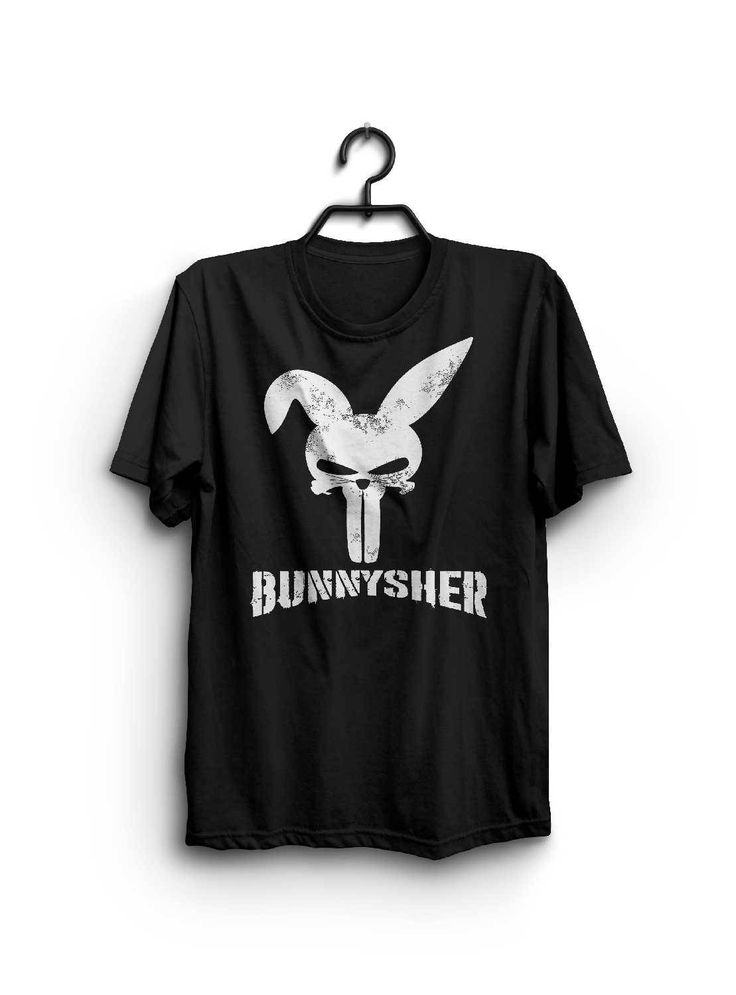 Excited to share the latest addition to my #etsy shop: BUNNYSHER - Inspired by The Punisher Shirt - Punisher Parody Tee Shirt - Funny Parody Shirt http://etsy.me/2Ctyz9L #clothing #shirt #black #white #bunnyshershirt #punishershirt #thepunisher #funnytshirt