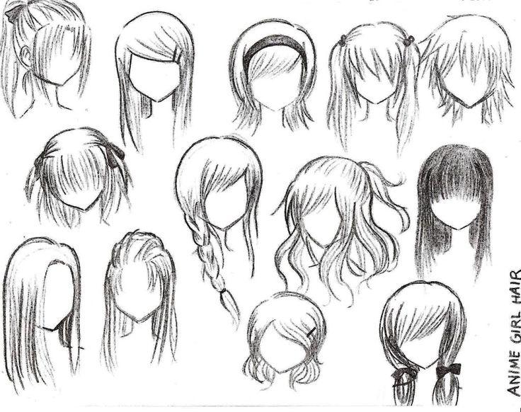 Drawings: anime hairstyles