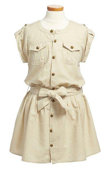 Ralph Lauren Linen & Cotton Cargo Dress (Toddler Girls & Little Girls) available at #Nordstrom