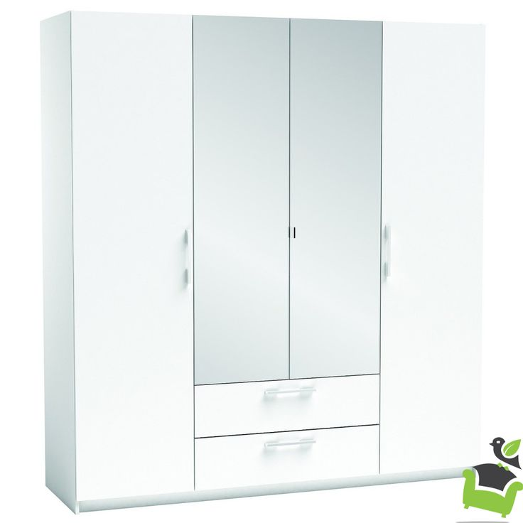New York 4 Door Wardrobe #Bedroom #wardrobes