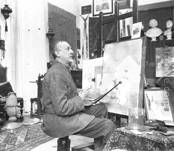 Giulio Rosati (1857 - 1917) was an Italian painter specialized in orientalist and academic scenes.