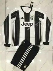 2016/17 Juventus Home White and Black LS  Soccer Uniform