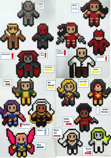 Choose 3 Marvel Perler / Hama Bead Figures por HouseOfVicness